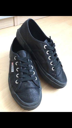 Superga Sneaker 38 schwarz Glitzer