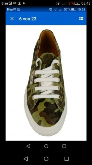 Superga Sneaker Blogger Leder Camouflage 36