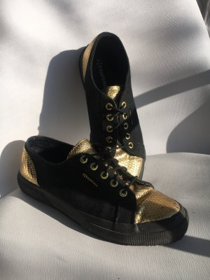 Superga Zapatilla brogue negro-color oro
