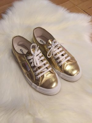 Superga Sneaker/Gold Größe 39