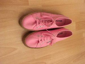 Superga Sneaker pink, Superga plateau