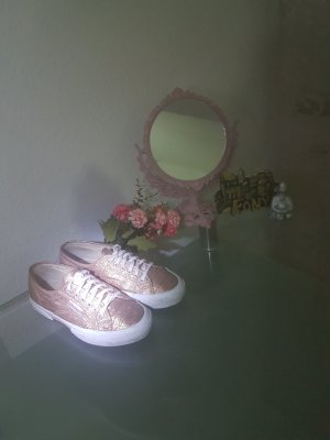 Superga Sneakers met veters wit-roségoud