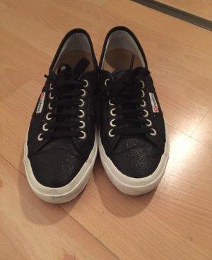 Superga Sneaker schwarz/Glitzer
