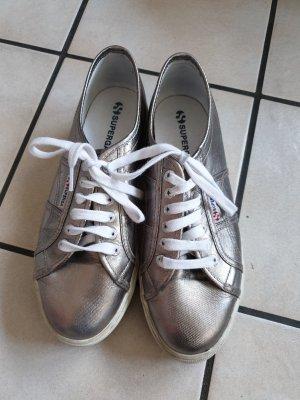 Superga/ Sneaker/ silberne Schuhe/ Plateausohle Schuhe/ Sommerschuhe