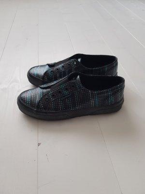 Superga Sneaker Slipper Metallic Mosaik Muster Gr. 38