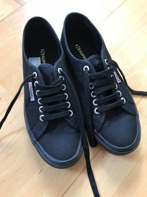 Superga Sneaker Stoffschuhe neu schwarz 39,5