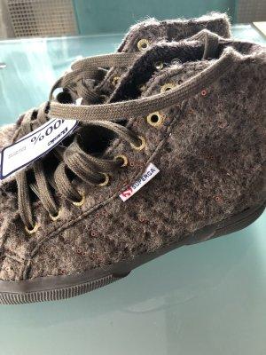 new styles ba71a 46f6d Superga Sneaker Turnschuh Wolle Glitzer Gr. 39 NEU