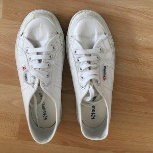Superga Sneaker, weiß mit Glitzer