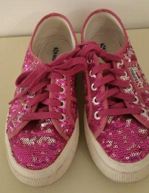 Superga Sneakers mit Pailetten in Pink