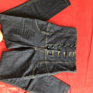 Phard Jeans a vita alta blu scuro