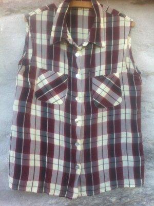 superKleidsame ärmellose Bluse, 42, kühl, zeitlos, Perlmuttknöpfe