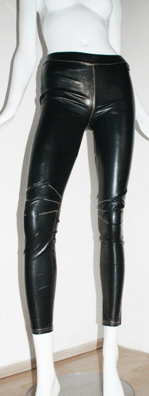 Rich & Royal Leggings black-gold-colored polyester