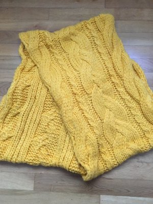 Zara Écharpe en tricot orange doré