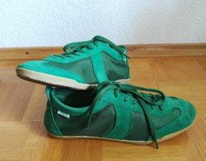 Buffalo Sneakers met veters groen-bos Groen