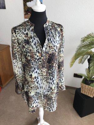Amisu Zijden blouse veelkleurig Zijde
