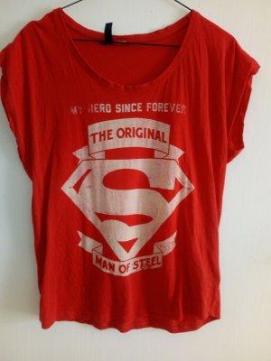BlendShe Print Shirt red cotton