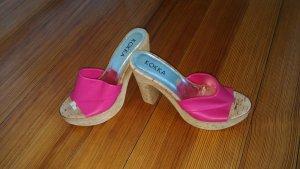 Superschicke Sommerpantolette in pink NEU