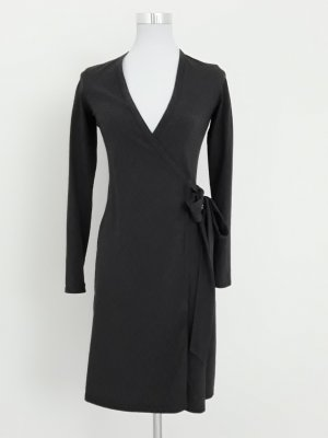 Robe portefeuille gris anthracite