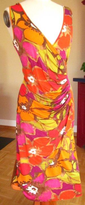 FOX'S Shortsleeve Dress multicolored viscose