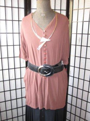 Blusa larga marrón Viscosa