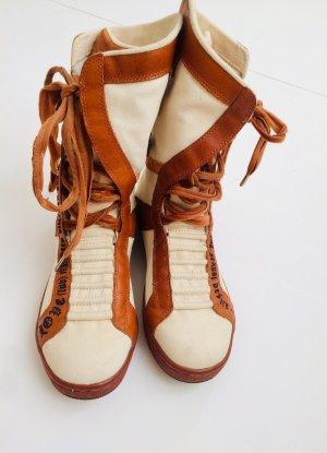 L.a.m.b. Lace-up Boots oatmeal-cognac-coloured