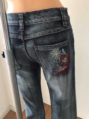Colours of the World Boot Cut Jeans multicolored cotton