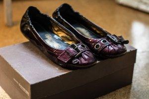 Kennel und Schmenger Bailarinas de charol con tacón violeta oscuro-negro