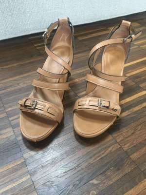 Tod's Sandalo con cinturino e tacco alto color carne