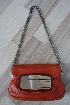 Superschöne PRADA Mini-Tasche * oranges Leder mit Spiegelverschluss * Sammlerstück!