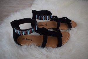 Sandalias negro-azul claro