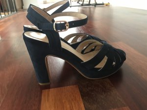 Anna Field Strapped High-Heeled Sandals dark blue