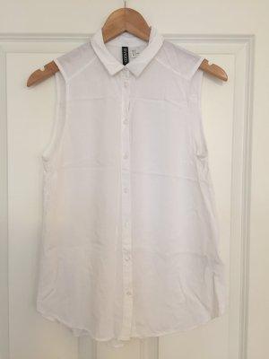 Superschöne schulterfreie Bluse in weiß von H&M, Gr. 38 NEU