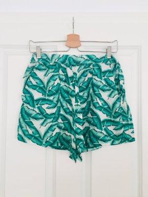 Zara Short taille haute multicolore soie