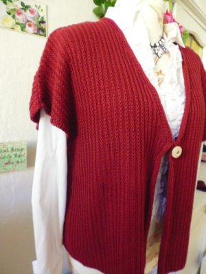 Waschbär Knitted Vest carmine-dark red cotton