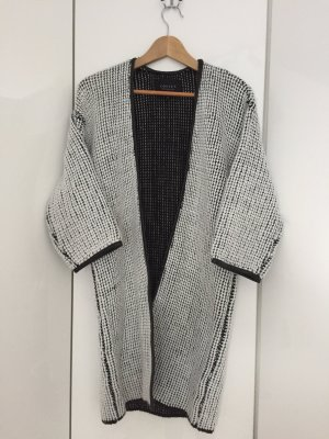 Costes Coarse Knitted Jacket white-black