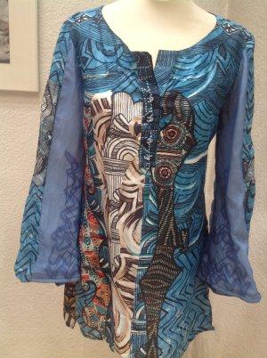 Save the Queen Blusa de túnica multicolor Seda