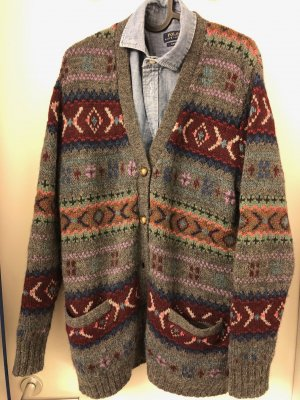 Ralph Lauren Coarse Knitted Jacket multicolored