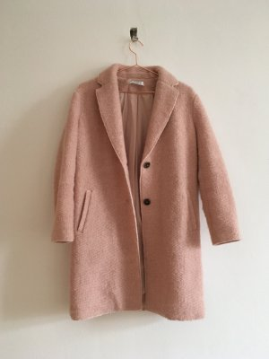 Zara Abrigo corto rosa empolvado Lana