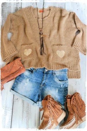 Oversized Sweater light brown-beige