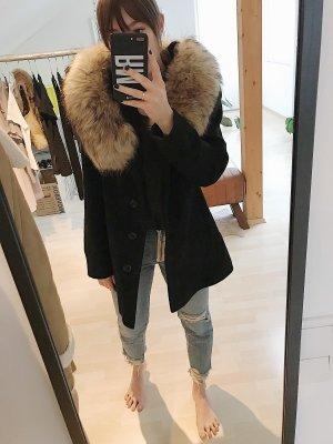 Milo Coats Abrigo de piel negro Cachemir