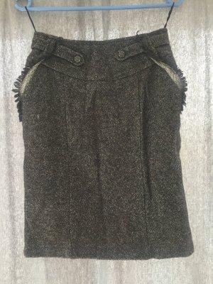 Mango Suit Wool Skirt multicolored cotton