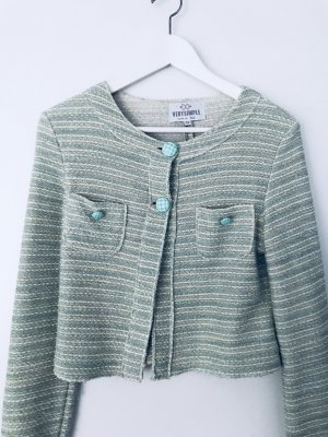 superschöner Tweed Kurzblazer in mint - Made in Italy