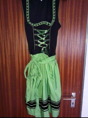 Vestido Dirndl negro-verde