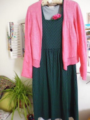 Efixelle Vestido de tela de jersey multicolor fibra textil