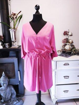 Superschönes Kleid von Mango Suit Gr L Midi Midikleid pink rose Tunnelzug Cocktailkleid Party