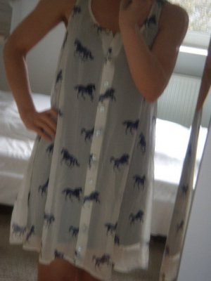Quiksilver Pinafore dress white-blue