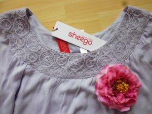 Sheego Vestido tipo túnica rosa empolvado-malva tejido mezclado