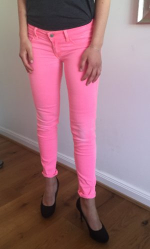 Superskinny Hollister-Jeggings in Neon-Koralle