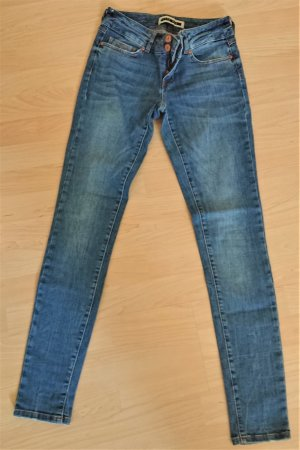 Noisy May Jeans slim bleu acier coton