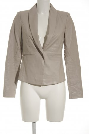 Superstar Leder-Blazer beige Business-Look